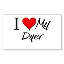 I Heart My Dyer Rectangle Decal
