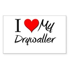 I Heart My Drywaller Rectangle Decal