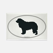 Leonberger Silhouette Rectangle Magnet