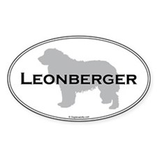 Leonberger Oval Oval Decal
