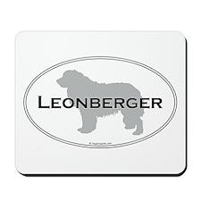 Leonberger Oval Mousepad