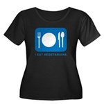 I Eat Vegetarians Women's Plus Size Scoop Neck Dar