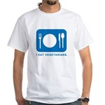 I Eat Vegetarians White T-Shirt