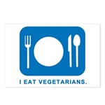 I Eat Vegetarians Postcards (Package of 8)