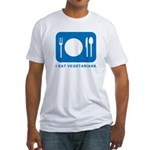 I Eat Vegetarians Fitted T-Shirt