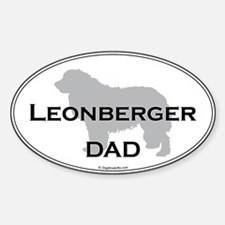 Leonberger Dad Oval Decal