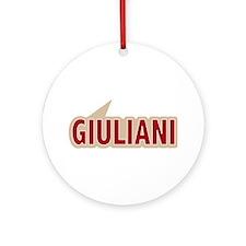 I say Vote Rudy Giuliani Red Ornament (Round)