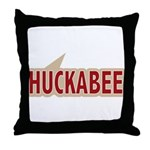 I say Vote Mike Huckabee Red Throw Pillow