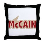 I say Vote John McCain Red Throw Pillow