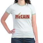 I say Vote John McCain Red Jr. Ringer T-Shirt