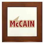 I say Vote John McCain Red Framed Tile