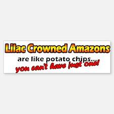 Potato Chips Lilac Crowned Amazon Bumper Bumper Bumper Sticker