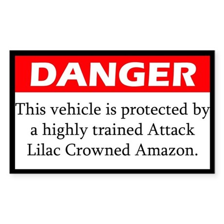 Danger Attack Lilac Crowned Amazon Sticker