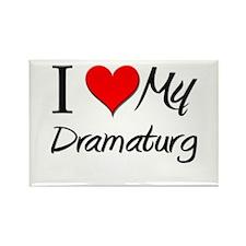I Heart My Dramaturg Rectangle Magnet