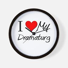 I Heart My Dramaturg Wall Clock