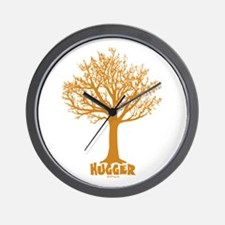 TREE hugger (brown) Wall Clock