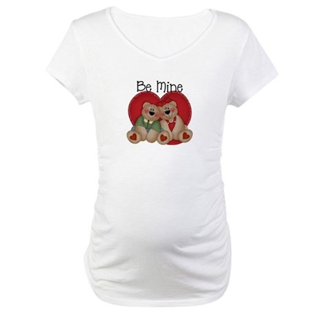 Be Mine Bear Couple Maternity T-Shirt
