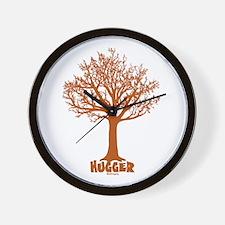 TREE hugger (red) Wall Clock