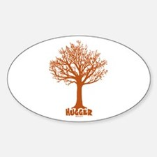 TREE hugger (red) Oval Decal