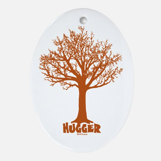 TREE hugger (red) Oval Ornament