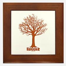 TREE hugger (red) Framed Tile