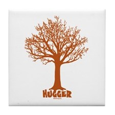 TREE hugger (red) Tile Coaster
