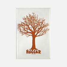 TREE hugger (red) Rectangle Magnet
