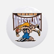 Tap Out or Pass Out Wrestling Ornament (Round)