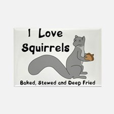 I Love Squirrels Magnets