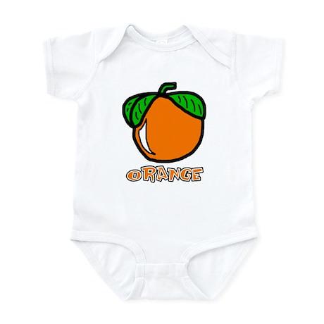 Orange Infant Bodysuit