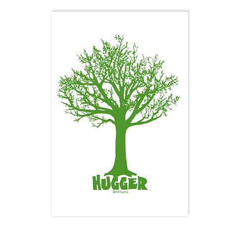 TREE hugger (green) Postcards (Package of 8)