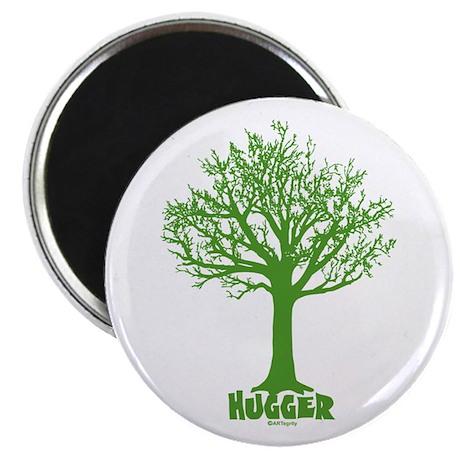 """TREE hugger (green) 2.25"""" Magnet (100 pack)"""