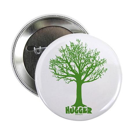 """TREE hugger (green) 2.25"""" Button"""