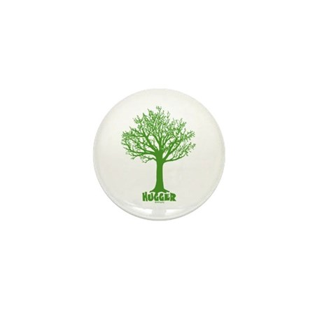 TREE hugger (green) Mini Button (10 pack)