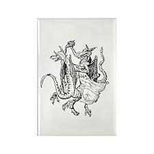 Dancing Dragons v2 Rectangle Magnet