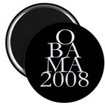 Black Obama 2008 in Layers Magnet