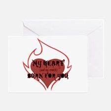 My Heart & Croch Burn for You Greeting Card