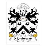 Monington Family Crest Small Poster
