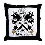 Monington Family Crest Throw Pillow