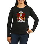 Milo Family Crest Women's Long Sleeve Dark T-Shirt