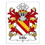 Milo Family Crest Small Poster
