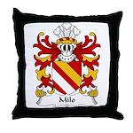 Milo Family Crest Throw Pillow