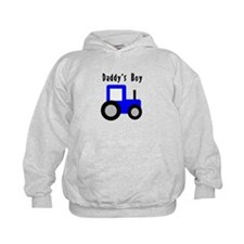 Daddy's Boy Blue Tractor Hoodie