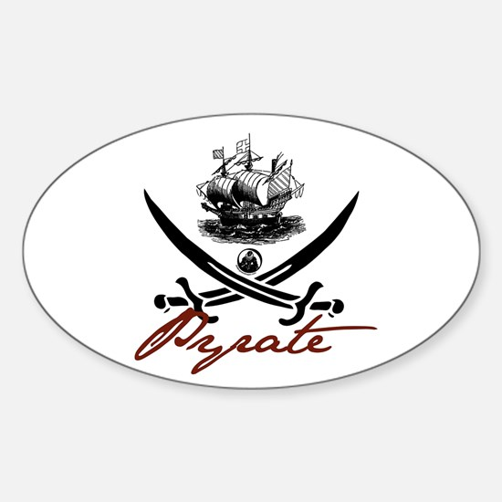Elizabethan Pyrate Insignia Oval Decal