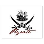 Elizabethan Pyrate Insignia Small Poster