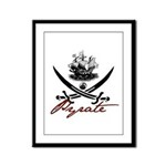Elizabethan Pyrate Insignia Framed Panel Print