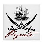 Elizabethan Pyrate Insignia Tile Coaster