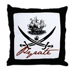 Elizabethan Pyrate Insignia Throw Pillow