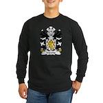 Meurig Family Crest Long Sleeve Dark T-Shirt