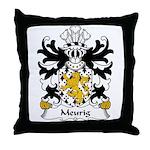 Meurig Family Crest Throw Pillow